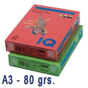 Papel de colores intensos con gran intensidad.  Idóneos para impresión inkjet, láser y fotocopias de la más alta calidad.  Paquete de 500 hojas A3 de 80 grs.  Color: AMARILLO CANARIO
