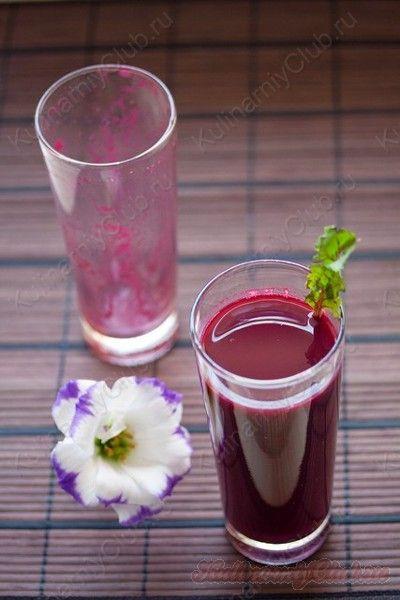 Здоровый и полезный овощной свекольно-морковный сок