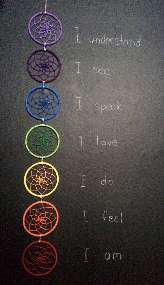7 chakras rainbow atrapasueños