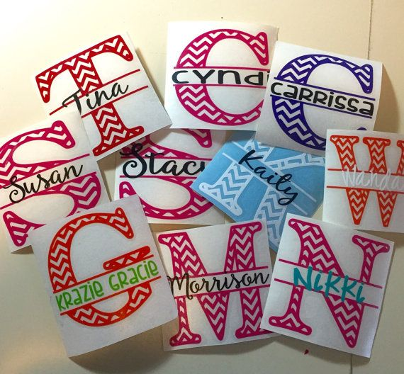 Personalized monogram vinyl decal yeti tumbler decal water bottle decal rambler decal car decal wine glass decal mug decal