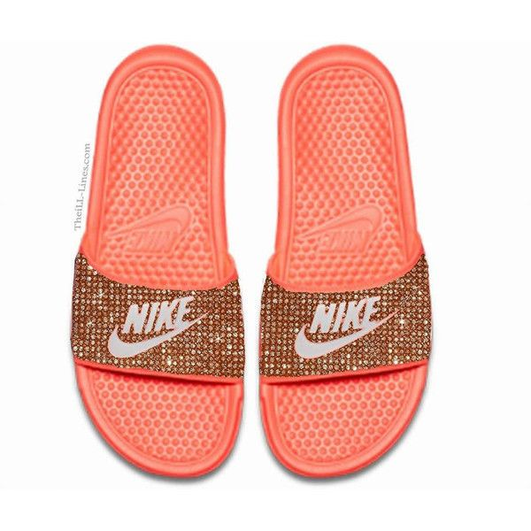 b372ea4f5 ... authentic nike benassi jdi womens slide sandals 250 liked on polyvore  featuring shoes sandals flat slide