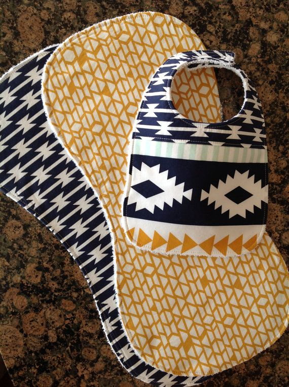 Burp Cloths-Burp Cloths Boy-Aztec Burp Cloth-Burp by bbsprouts