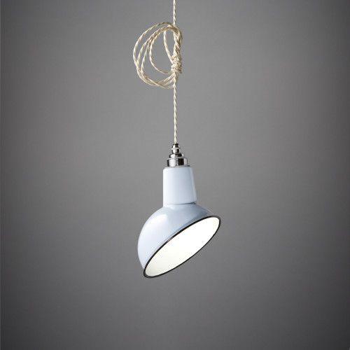 Miniature Angled Cloche Lamp Shade. Grey   Warehouse Home   Nook London   Unique