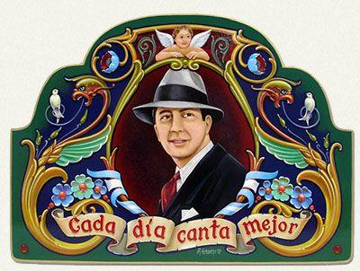 Carlos Gardel en Fileteado Porteño de Alfredo Genovese.