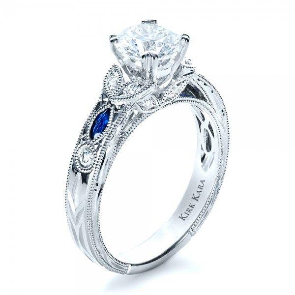 saphire jewlery  Blue Sapphire Engagement Ring - Kirk Kara.  Joseph Jewelry Seattle