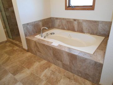 Master Bathroom Remodel Project Jacuzzi Tub With 12x24 Porcelain Tiles Tile Work By