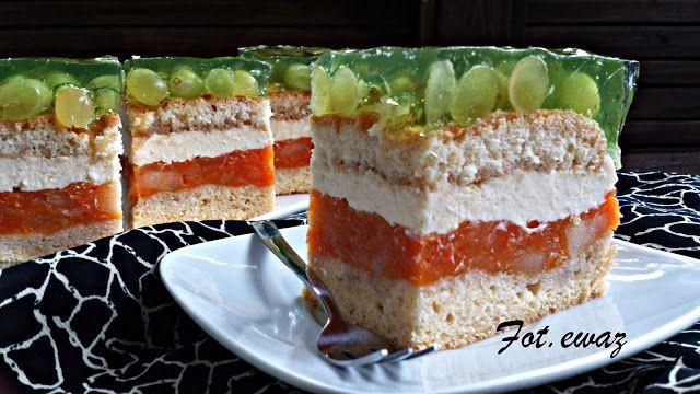 Ewa w kuchni: Kolorowe jesienne ciasto