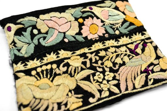 Antique Chinese Embroidered  Zipper Purse by Keavija on Etsy