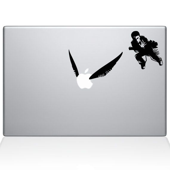 Harry Potter Quidditch Macbook Decal Laptop by RockPaperStickers, $5.00 https://www.etsy.com/listing/194312808/harry-potter-quidditch-macbook-decal?