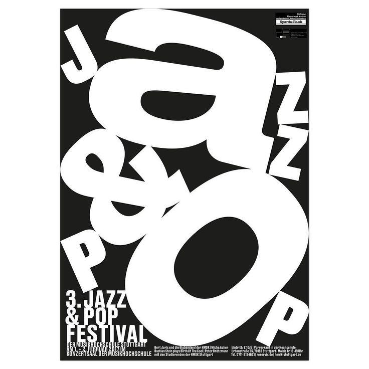 Proposal for a poster for the Jazz&Pop Festival of Musikhochschule Stuttgart #poster #graphicdesign #posterdesign #hdmk #musikhochschulestuttgart #jazzandpop #klassethomas #gravity #gravityfalls #typography #jazz #pop