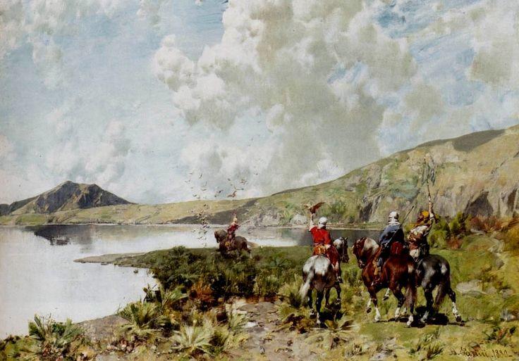 Pasini, Alberto (b,1826)- Falconers, 1880