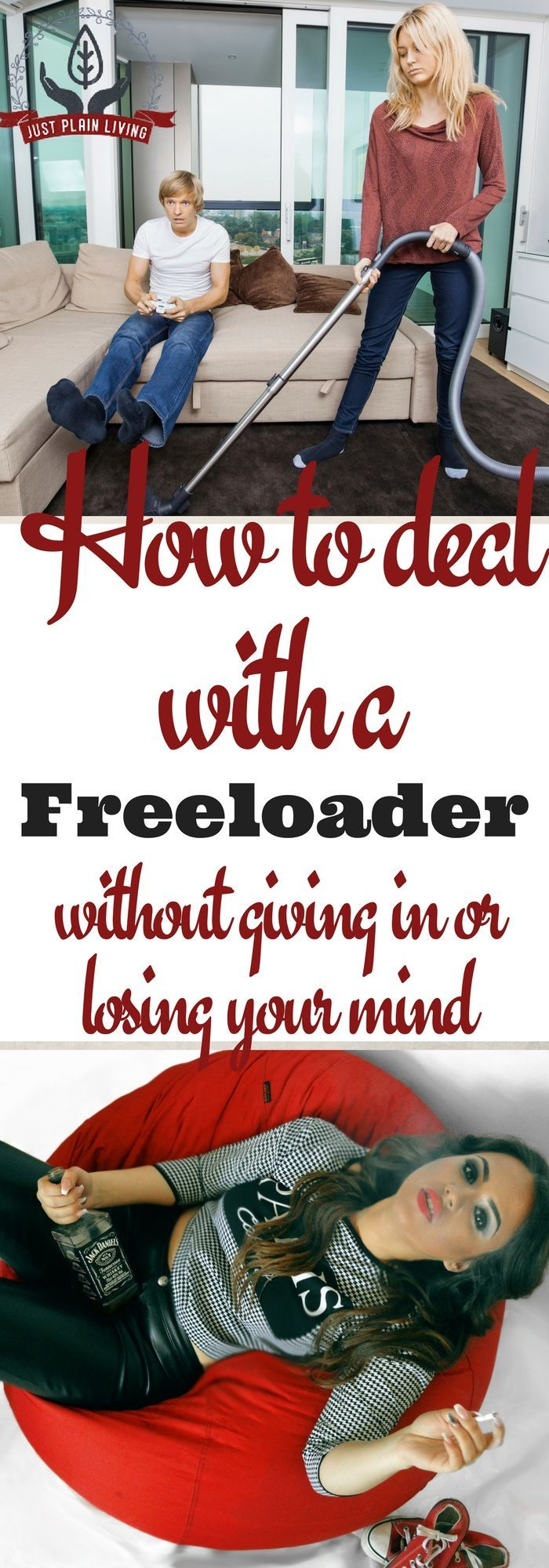 how to deal with a freeloader at work