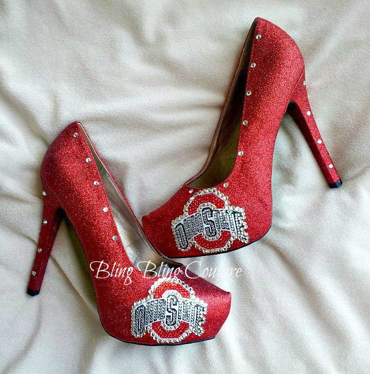 OSU The Ohio State University High Heels Go Bucks Buckeyes