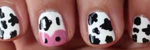 Cow nail art design   Nail-art