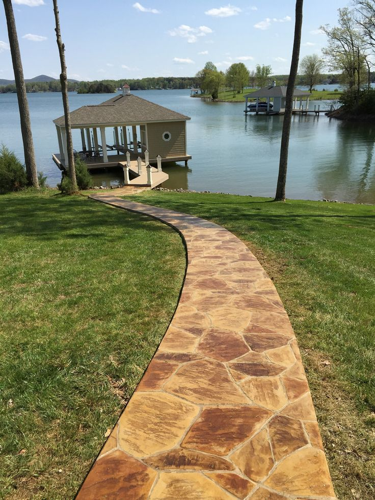 Stamped And Stained Concrete Driveway Patio Amp Sidewalk Smith Stone Layouts