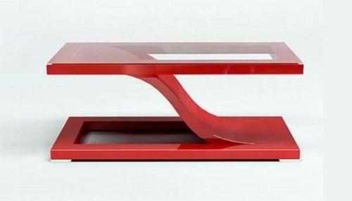 Moderne attraktive Couchtische fürs Wohnzimmer – 50 coole Bilder - trendy eigenartige kaffeetische rot glas platten