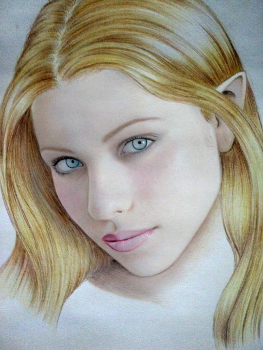 Nimithil, graphite, pastel and color on paper