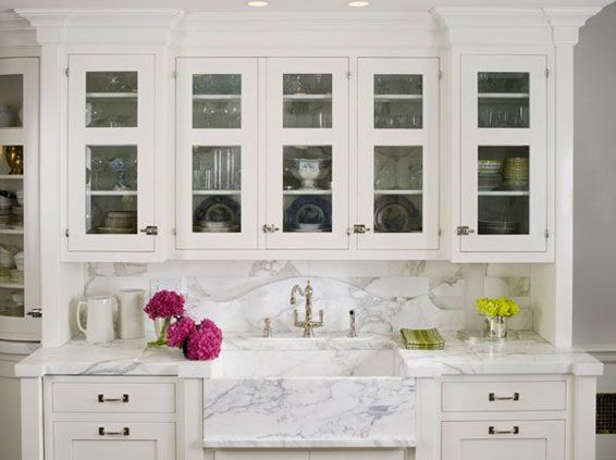 White marble in all its wonderous white glory! - The Enchanted Home