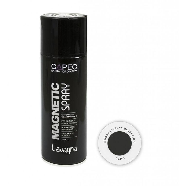 MAGNETIC SPRAY LAVAGNA Spray Lavagna Magnetica / Vernice Lavagna Magnetica Capec ml 400: Amazon.it: Fai da te