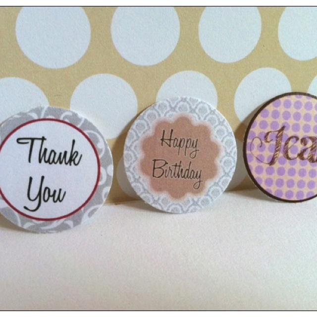 Small Envelope Seals - Thank You, Birthday, Personalised. Choose your own circle design and font from my Flickr album, and start customizing your very own envelope seals. Suitable for any occasions or just for that personal touch.