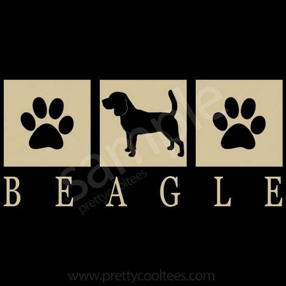 Beagle Dog Silhouette Paws T-Shirt - S-M-L-XL on Etsy, $22.99