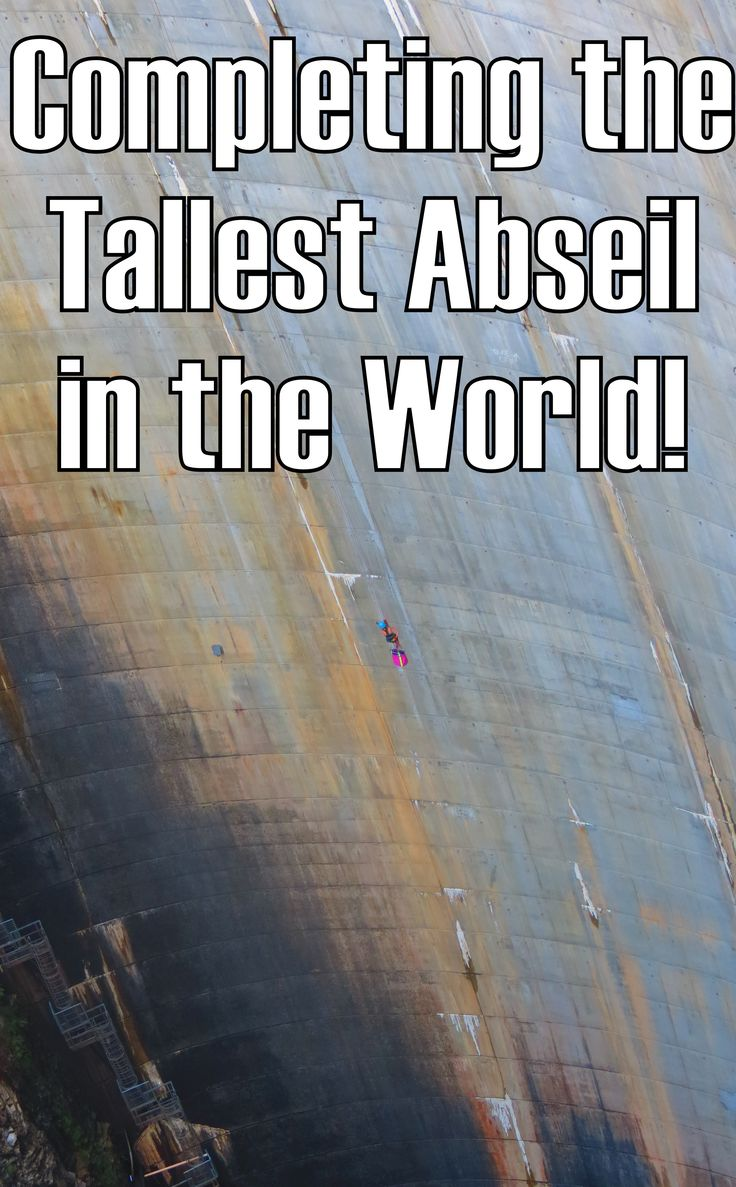 The tallest abseil in the world: Gordon Dam, Tasmania. Click through for video ---> http://www.mappingmegan.com/abseil-gordon-dam-tasmania/