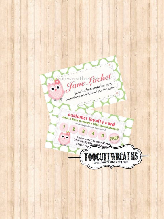 22 best cute owl business cards images on pinterest visit cards buy 2 loyalty card business card consultant digital download any design colourmoves