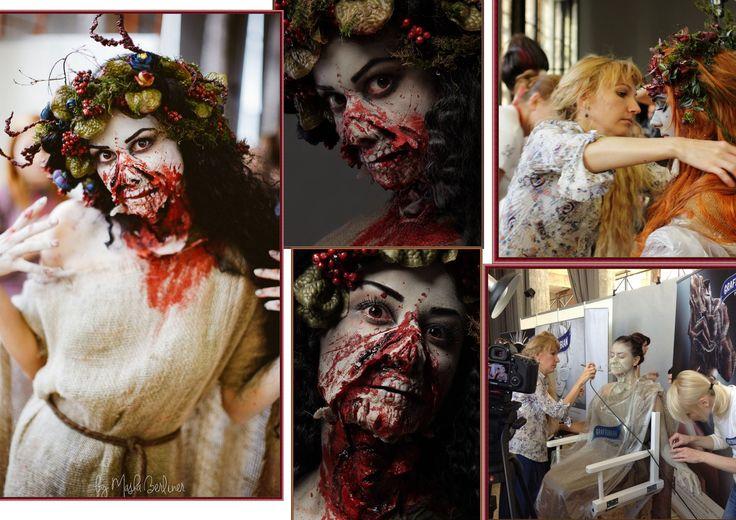 Хэллоуин страшное лицо краской идеи женщины череп черный белый Макияж скелета на Хэллоуин, создаем makeup skeleton