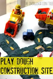 Image result for play dough and trucks