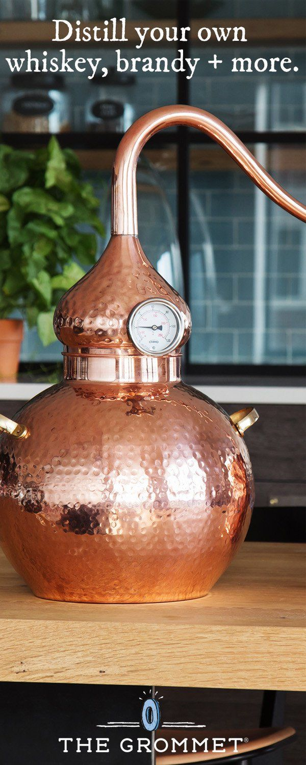 Home distilling is easy—and attractive—with this striking copper and brass still. Handcrafted with care by artisans in India for fair wages, the design is fashioned after the ancient alembic still. While not in use making batches of brandy, whiskey, and other spirits (you can even use it to make essential oils!), it serves as a striking piece of home décor.