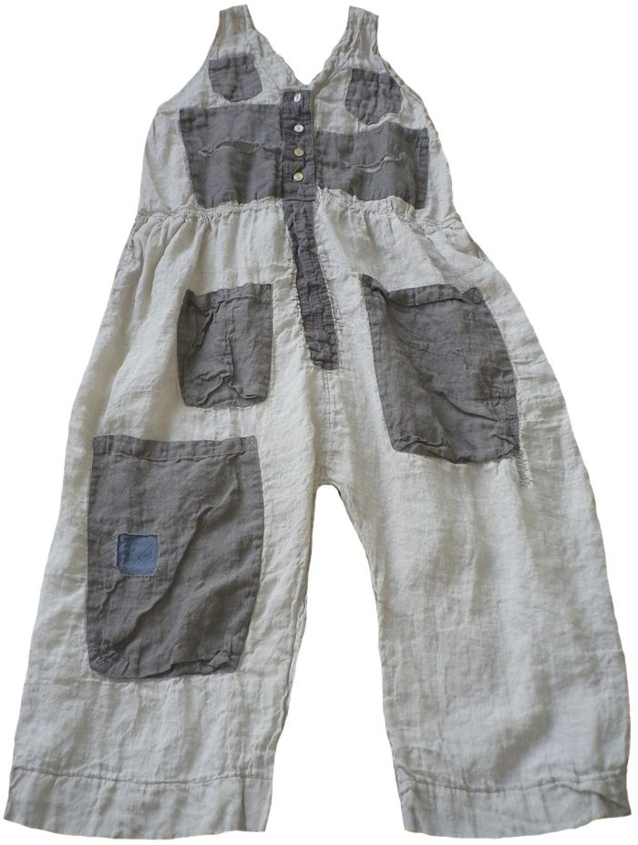 Magnolia Pearl: Assorted brown linens Sleeveless Frankie Mae Mechanic Suit