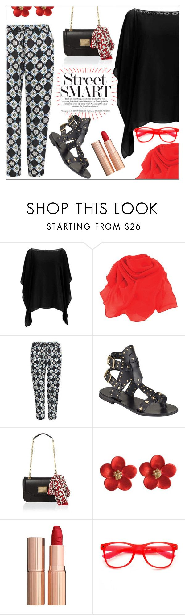 """""""Red x Black"""" by eternal-collection ❤ liked on Polyvore featuring Somerset by Alice Temperley, Love Moschino and Charlotte Tilbury"""