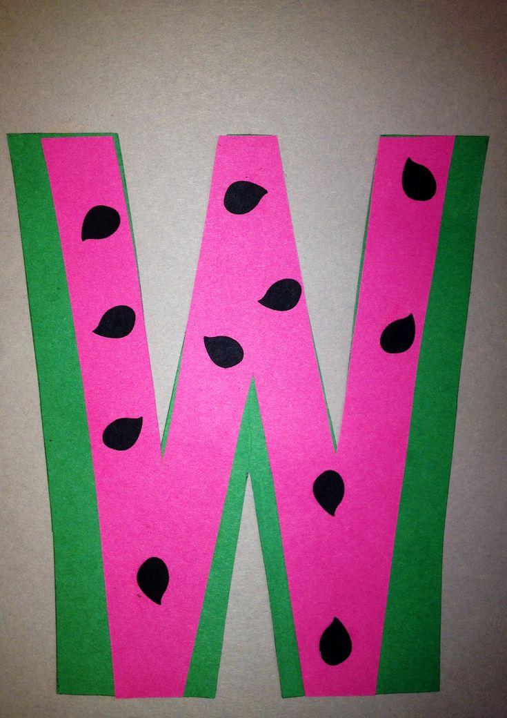 ����W��#��{��_PreschoolLetterWCraft Letteracrafts,Letterwcrafts,Preschoollettercrafts