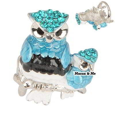 Korean Personality Exquisite Fashion Double OWL Charm Design Rings (Blue) General. Fashionable with passion REPIN if you like it.😊 Only 135.5 IDR