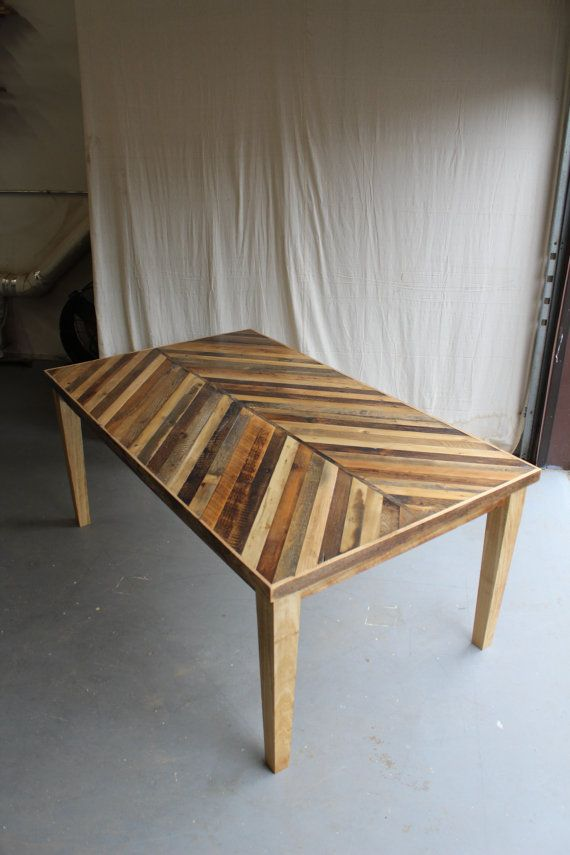 Reclaimed Pallet And Barn Wood Dining Table With Tapered