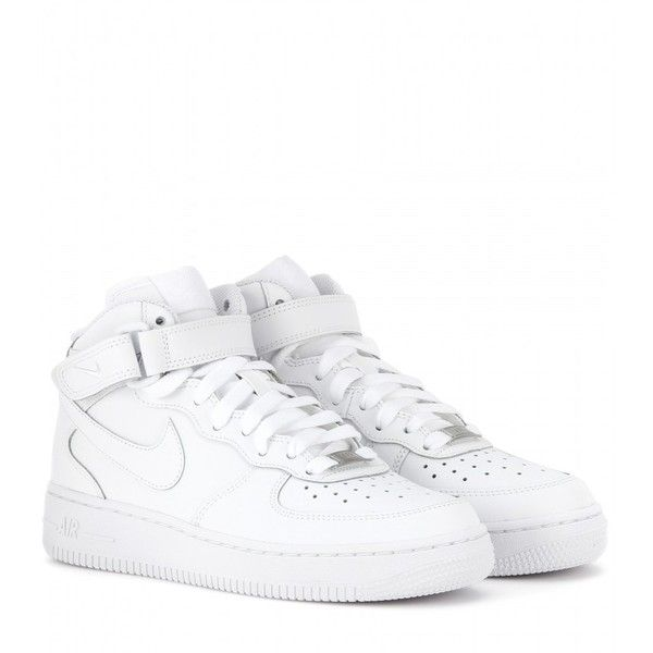 Nike Nike Air Force Mid '07 Leather High-Top Sneakers found on Polyvore