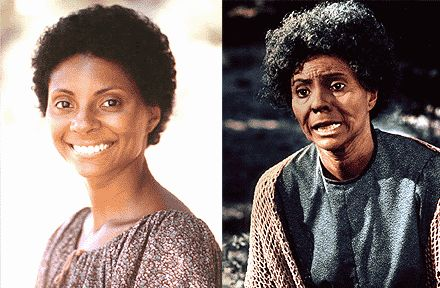 Leslie Uggams as Kizzy in the miniseries Roots (1977)