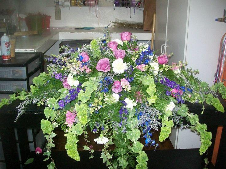 Bells Of Ireland Casket Spray Funeral Amp Sympathy Flowers