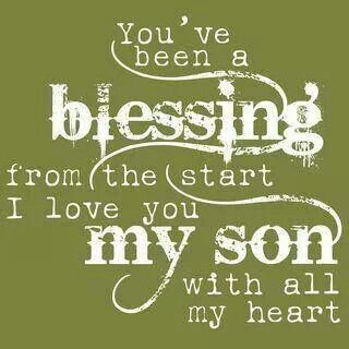 You've been a blessing from the start...