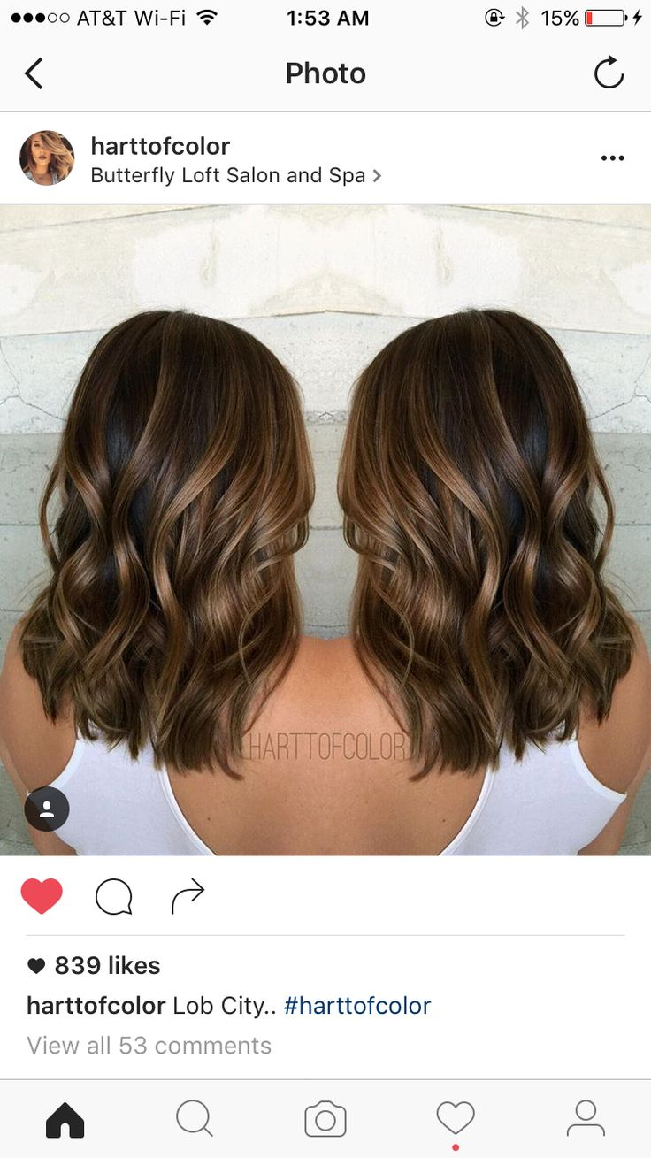 Balayage Medium Brown Hair