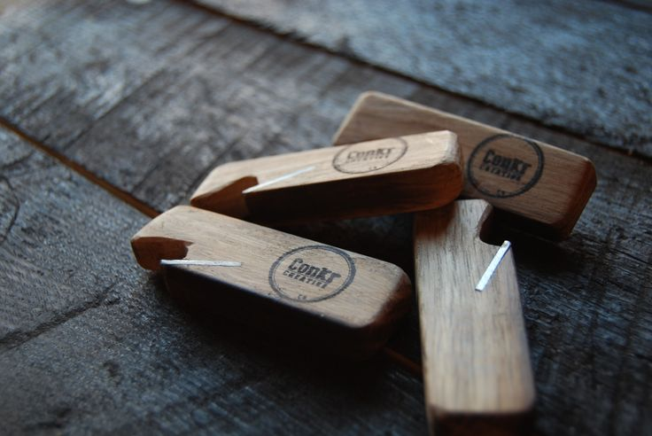 Bottle Opener - made from old Irish whiskey barrels By Chris Dermody - ConkrCreative - now available internationaly from Designeros! #craft #upcycle #design #wood #oak #beer #bottle #openers