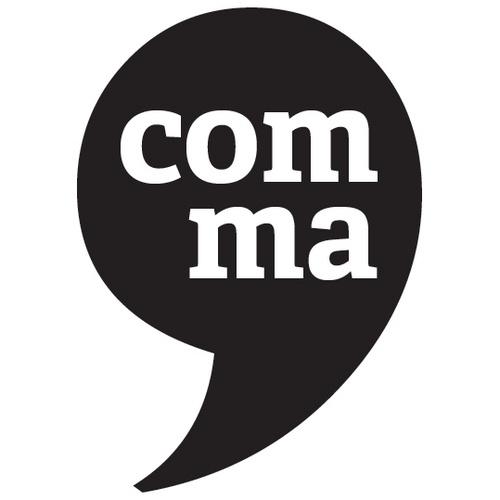 Comma. Period.