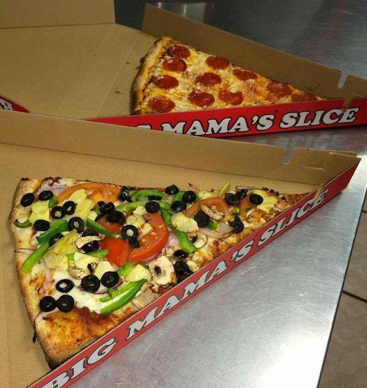 3x the size of a regular slice #BMPP Pro Tip: Order delivery online 7 times and get a large 2 topping pizza for free! https://ordernow.bigmamaspizza.com/
