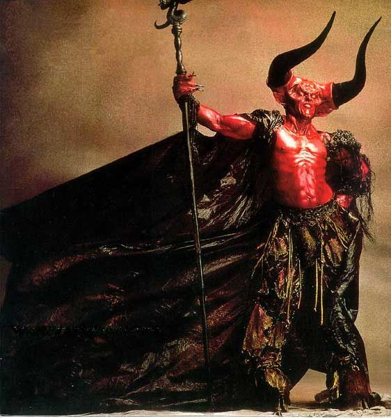 Darkness (Tim Curry) in Legend... Love the movie Legend but no matter how hard I try, I still can't see Tim in there. The makeup was awesome!