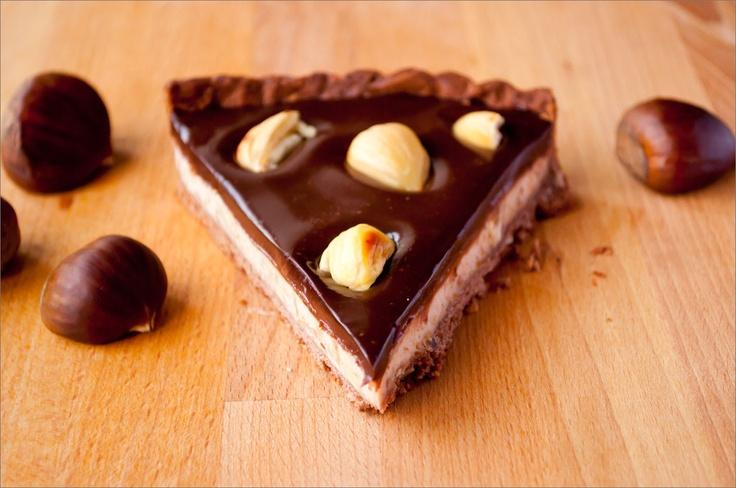 Kestaneli tart: Chestnut Chocolates, Tarts Instor, Chocolate Tarts, Kestan Tarts, Chocolates Tarts