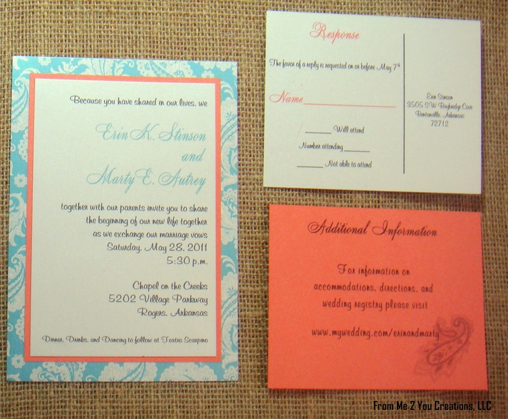 Coral And Teal Wedding Invitations: 84 Best Coral And Teal Wedding Images On Pinterest