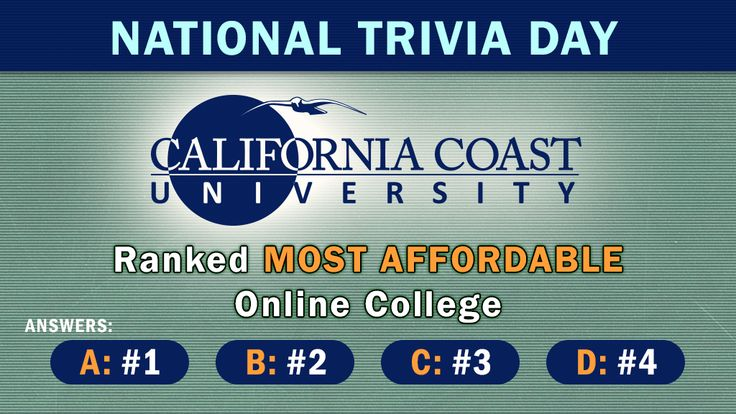 Today is #NationalTriviaDay!   #Didyouknow CCU's Bachelor of Science in Psychology is Ranked #1 most affordable in the entire country? Our Doctoral Degrees are Ranked #2 and our Bachelor of Science in Criminal Justice is Ranked #3.  Can you guess what CCU is ranked overall?