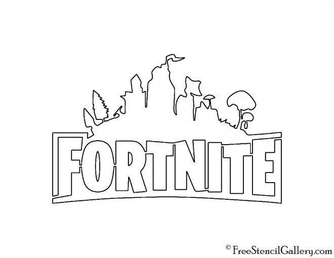 fortnite logo 02 schablone in 2020  birthday party