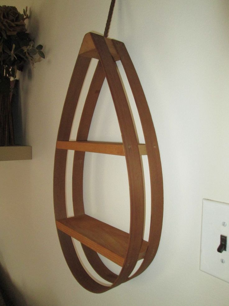 Bent Wood DISPLAY Hanging PLANTER Plant Stand Mid Century Modern Bentwood  Shelf