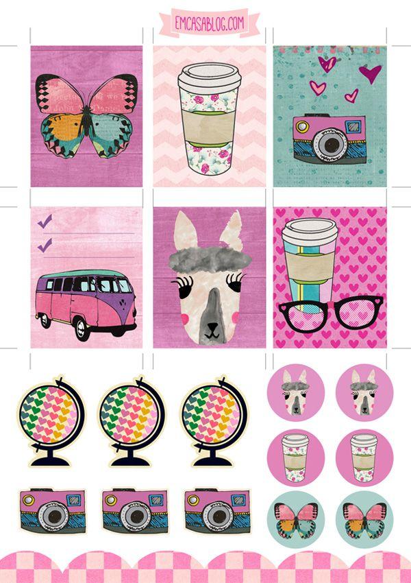 Em Casa Blog: Free Printable Planner Stickers